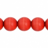 Wooden Bead Round 10mm Red